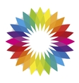 Flower of spectral colors or color spectrum vector image