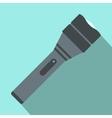 Black flashlight flat icon vector image