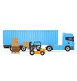 truck semi trailer concept 03 vector image