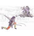 kung fu - an hand drawn vector image