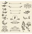 Set Vintage Decorations Elements arabesque vector image
