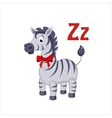 Zebra Funny Alphabet Animal vector image