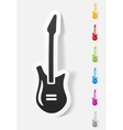 realistic design element electric guitar vector image