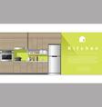 Interior design Modern kitchen background 3 vector image
