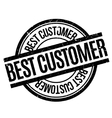 Best Customer rubber stamp vector image