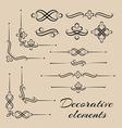 set of decorative elements vector image