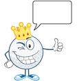 King golf ball golfer vector image