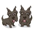 Cute Cartoon Puppy Dogs vector image vector image