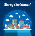 Modern flat design conceptual Christmas with snow vector image
