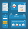 Different flat design interface elements vector image