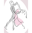 man and woman dancing vector image