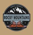 Rocky Mountains emblem vector image