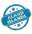 ALAND ISLANDS round stamp vector image