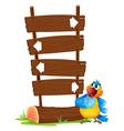 Cartoon Parrot Signboard vector image