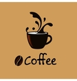 Coffee splash vintage banner design template vector image