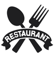 Crossed fork and spoon - restaurant symbol vector image