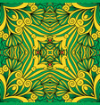 floral decorative green ornament vector image
