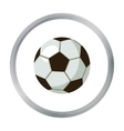 Football ball icon in cartoon style isolated on vector image