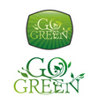 go green typography vector image
