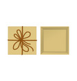 kraft present box with rope vector image