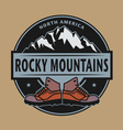 Rocky Mountains emblem vector image