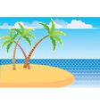 sea island vector image