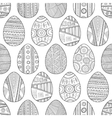 Seamless black and white pattern Easter eggs for vector image