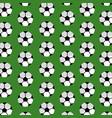 seamless pattern soccer ball sport club vector image