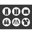 set mens shirts vector image