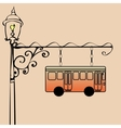 Street sign bus stop vector image