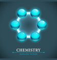molecule isolated on dark backgroun vector image