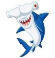 Cute hammerhead shark cartoon vector image vector image