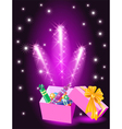 christmas glowing gift vector image