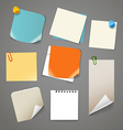 Collectionn of paper stickers vector image vector image