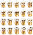 Cute series of smiles beer vector image