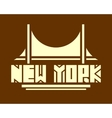New York city name Creative Typography Poster vector image