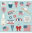 American stickers vector image