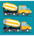 Building construction concrete mixer truck Cement vector image