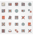 Colorful online education icons vector image