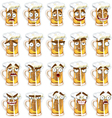 Cute series of smiles beer vector image
