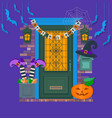 happy halloween card background poster view of vector image