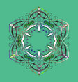 Snowflake ornamental pattern flat design of vector image
