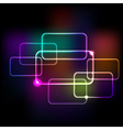 Abstract background with rainbow colored squares e vector image vector image