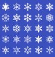 snowflakes set blue vector image vector image