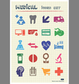 Medical and human web icons set vector image vector image