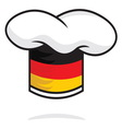 Germany chef hat vector image vector image