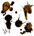 Set of two-color blots vector image
