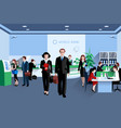 People In Bank vector image