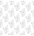 yoga seamless pattern vector image
