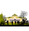 tourist view attractions of the park vector image